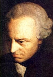 Portrait of Immanuel Kant. The German philosopher and writer of the Critique of Pure Reason, whose philosophy is under discussion.
