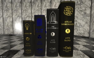 Ayn Rand's novels rendered in beautiful, elegant hardcover editions. Gold, silver, blue, bronze, black.