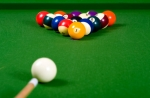 Billiard balls ready to be broken