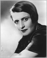 Ayn Rand, novelist and philosopher of Objectivism, a philosophy for living on Earth.