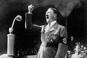 Adolf Hitler, the collectivist, speaking.