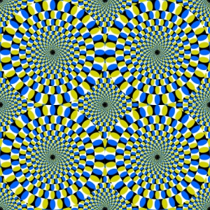 Optical Illusion-Rotating Circles