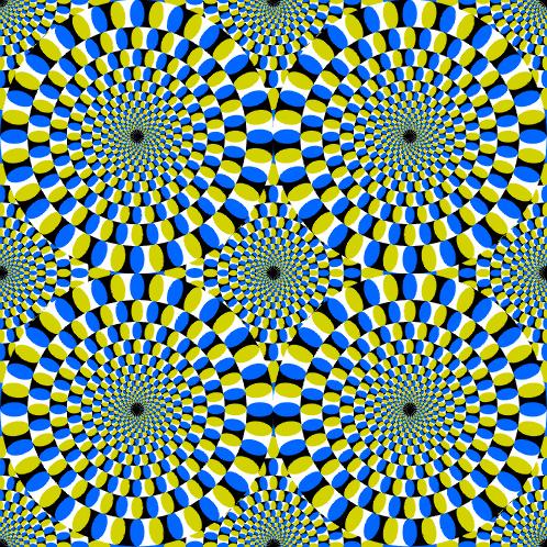 Optical Illusion-Rotating Circles
